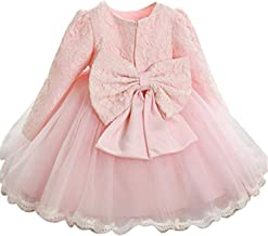 TTYAOVO Vestido de Tul de Manga Larga de la Boda de la Dama de Honor de la Princesa de Las Muchachas del Bebé