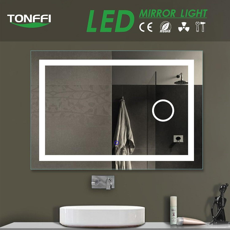 Tonffi Bad Spiegel mit LED Beleuchtung  Badspiegel Badezimmerspiegel  80x60CM 6000K auch als Schminkspiegel geeignet