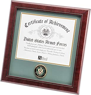 Allied Frame United States Army Certificate of Achievement Frame with Medallion - 8 x 10 inch