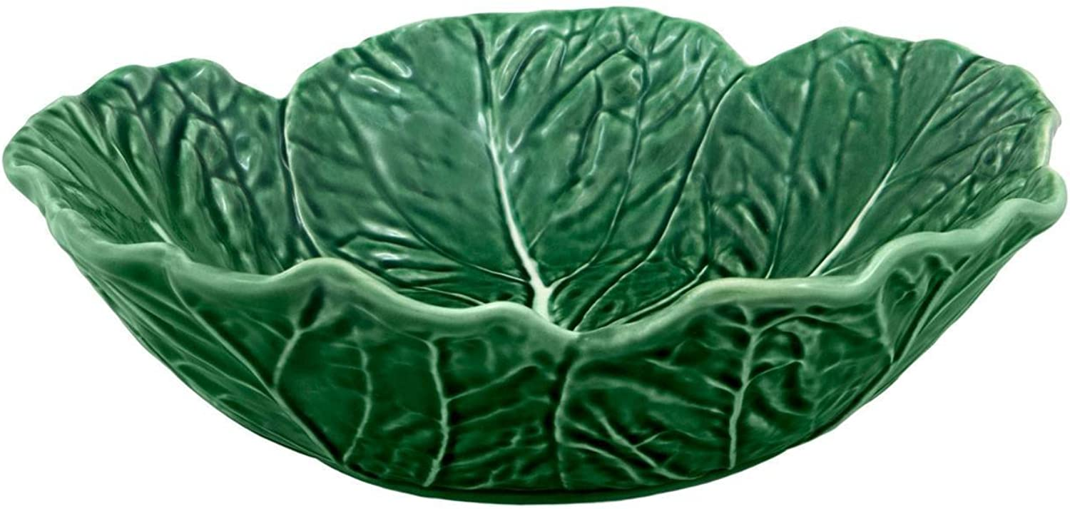 Bordallo Pinheiro Cabbage Green Cereal Bowl, Set of 4