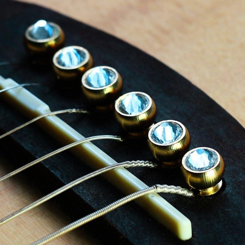 6Pcs Bridge Limited time cheap Ranking TOP13 sale Pin Copper Material Folk Guitar Acoustic