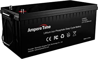 12V 200Ah Lithium Iron LiFePO4 Deep Cycle Battery, Built-in 100A BMS, 4000+ Cycles, 280amp Max, Perfect for RV, Solar, Marine, Overland, Off-Grid, Estimated Delivery Time is 3-7 Working Days