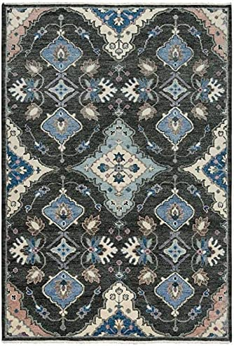 Alora Decor Muse 6' x gift 9' Charcoal Blue Abstract excellence Brown Hand Gray