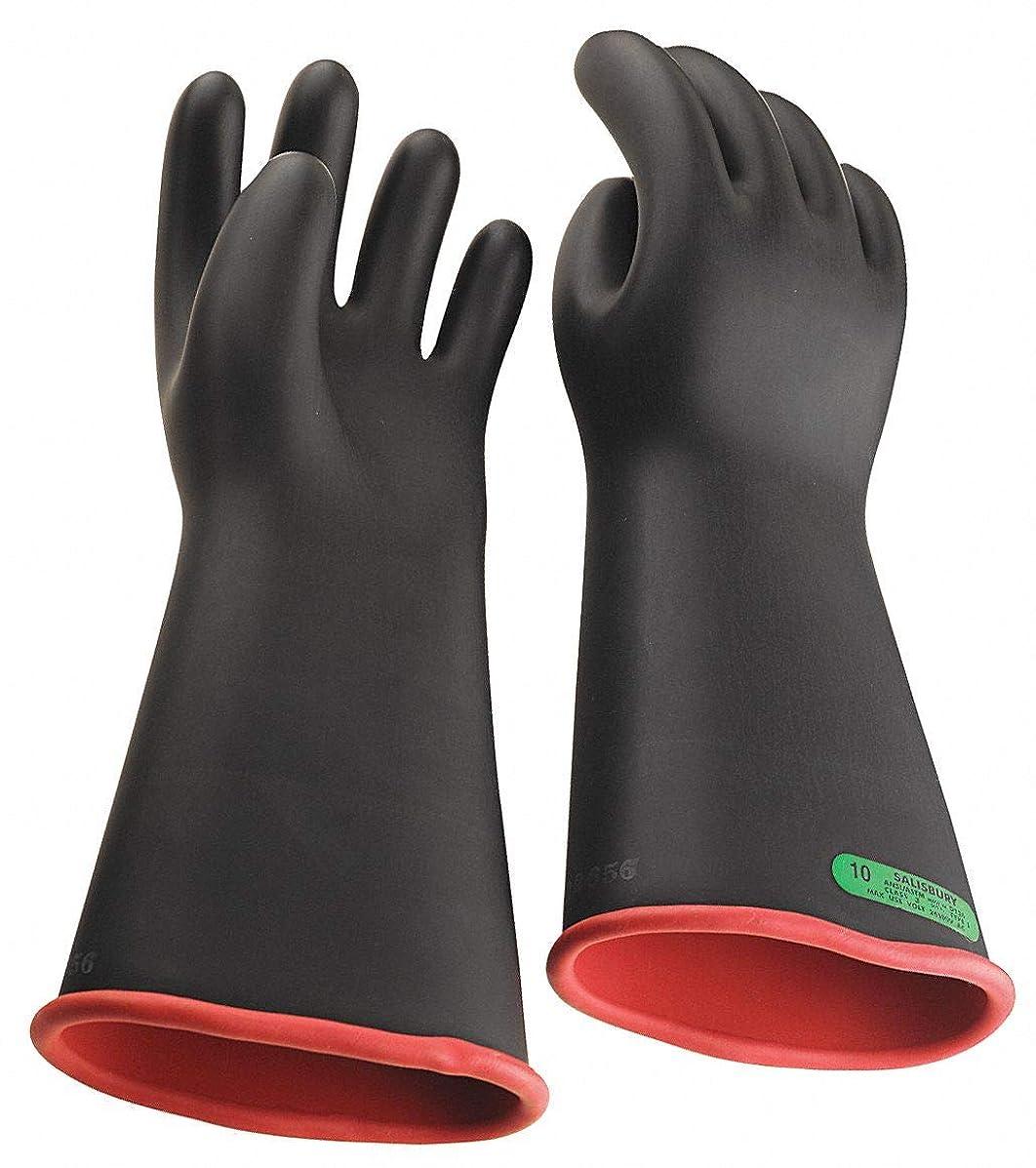 絶滅白い行くブラックexteriorx2?F ;レッド内部電気手袋、天然ゴム、3クラス、サイズ10?–?1?x 2?F ; 2?–?1各