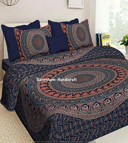 Indian Hippie Gypsy Home Decor Bohemian Biancheria da letto Copriletto Arazzo Twin Size Boho Cotone...