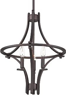 Emliviar 3-Light Foyer Chandelier, Farmhouse Lantern Pendant Light in Oil Rubbed Bronze Finish, 010-3 ORB