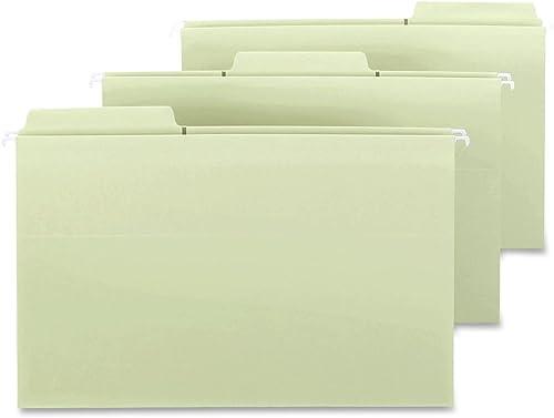 Smead FasTab 64322 H emappentasche mit voller H  Umfalte, 8,9 cm ErWeißrung, 1 3-Schnitt-integrierte Schlaufe, legale Größe, Moos, 9 Stück pro Box