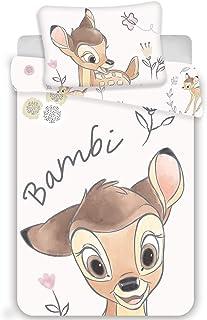 Bambi - Juego de cama infantil (100 x 135 cm y 40 x 60 cm)