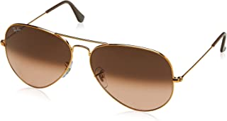 Ray-Ban Men's Aviator Large Metal Ii Sunglasses SHINY LIGHT BRONZE 62 mm
