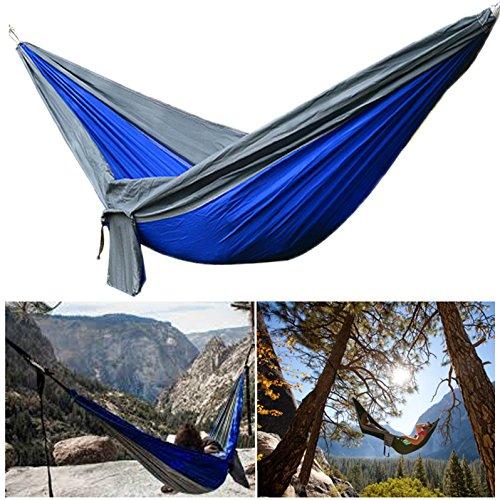 270X140Cm 210T Nylon Dubbele Hangmat Draagbare Swing Bed Max Laden 250Kg \ Camping Wandelen Trekking Backpacking Outdoor Vissen Sport Gadget Gereedschap Accesorieën