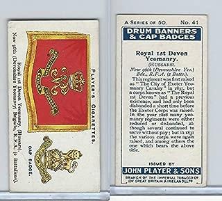 P72-93 Player, Drum Banners, 1924, 41 Royal 1st Devon Yeomanry (Hussars)