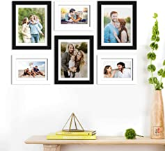 Art Street Wall Photo Picture Frame for Home Decor with Free Hanging Accessories (Size-6x8, 8x10 inches, Black and White),...