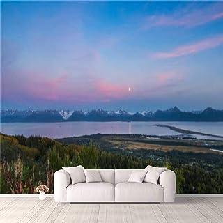 Modern 3D PVC Design Removable Wallpaper for Bedroom Living Room Panorama Homer Spit Kachemak Bay Alaska Wallpaper Stick a...