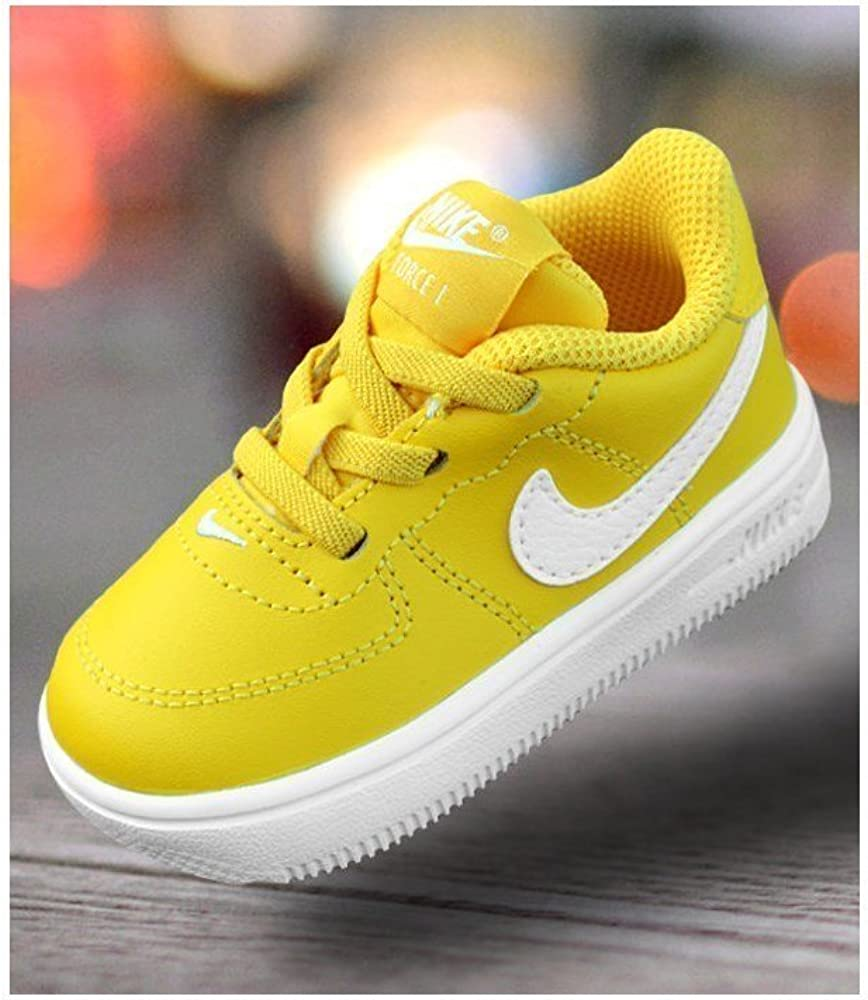 Nike Force 1 18–905220700, Enfant, jaune, 2 : Amazon.fr ...
