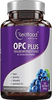 OPC Traubenkernextrakt 250 mg echtes, reines OPC aus französischen Trauben - Laborgeprüft, vegan, hergest. in Deutschland • OPC Plus mit 125 mg Acerola Extra natürliches Vitamin Ckt