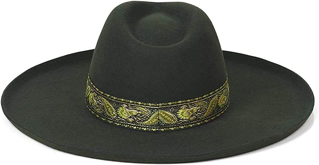 Lack of Color Women's Melodic Wide-Brimmed Wool Fedora