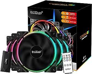 فن خنک کننده Pccooler 120 میلی متر سری 5 در 1 کیت ارتقاء ، فن کیس کامپیوتر ARGB LED - فن خنک کننده PWM - حالت های دو طرفه حلقه نور سبک چندگانه با کنترل کننده بی سیم برای PC Case ، CPU Cooler