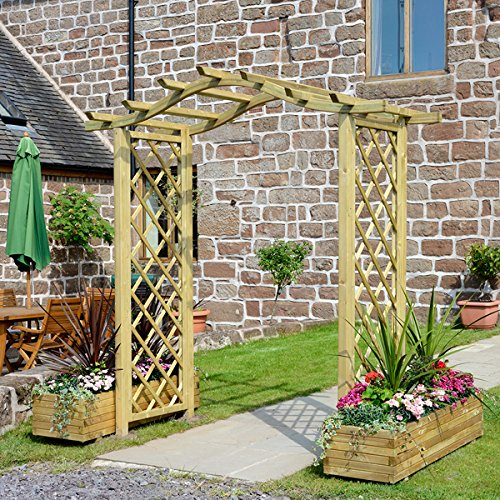 Lovely Pembridge arco de jardín, diseño de enrejado trabajo de madera disponible en 5 colores – Envío Gratuito, azul: Amazon.es: Jardín