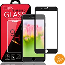 8 7 Matte Surface Screen Protector Glass, TIQUS 3D Full Coverage Tempered Glass Film Compatible for iPhone 8/iPhone 7 [Black]