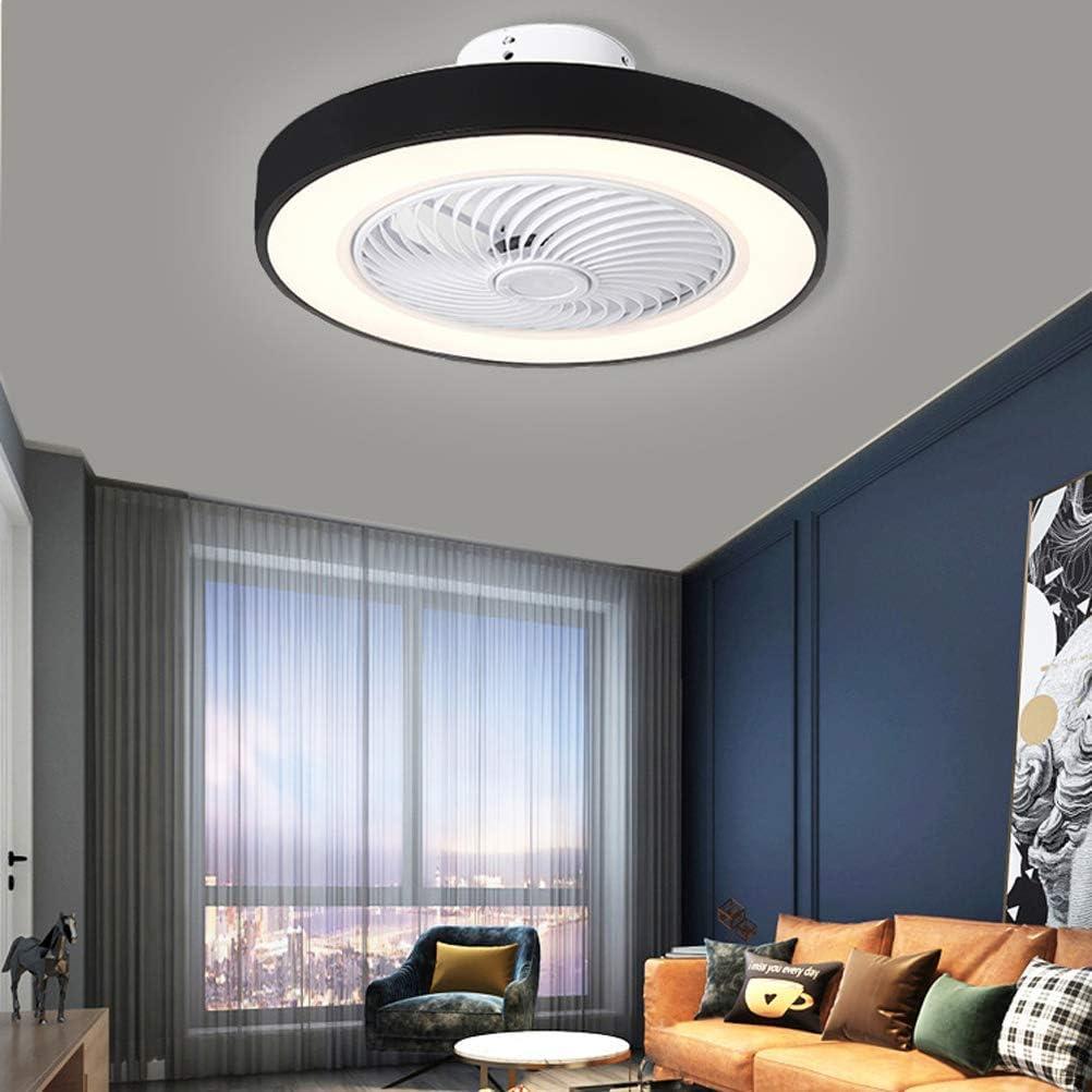 FCHMY Ventilador de Techo silencioso Moderno con iluminación LED, Control Remoto Regulable, Ventilador Ajustable de 3 velocidades, Ventilador de Techo LED para Sala de Estar, Dormitorio, habitació
