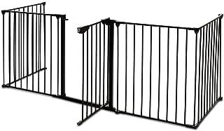 Inspirer Studio 5,6,8 Panel Heavy Duty Metal Gate Pet Fence Safe Playpen Barrier (BLACK, 5 Panel)