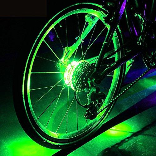 Lufei LED Bike Wheel Lights Hub Light Led Spoke Warning Lights Cycling Decoration Night Riding Bicycle Wheels Lights. (Green)