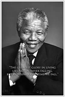 Rise When We Fall Nelson Mandela Quote Poster