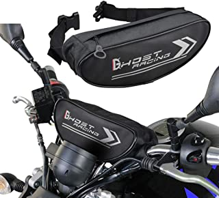 Motorbike Handlebar Bag, Universal Waterproof Front Fork Pouch, Bicycle Handlebar Storage Bag Saddlebag, Canvas Bike Pannier