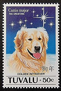 golden retriever postage stamps