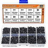HELIFOUNER 600 Pieces M2 M2.5 M3 Phillips Flat Head Screws, Electronic Repair Screws for SSD, Laptop Notebook Computer