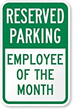 Joycenie New Sign Reserved Parking - Employee of The Month Sign 3M High Intensity Grade Aluminum 12''x18''