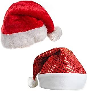 Santa Hat - Elf Hat - Christmas Tree Hat - Antler Headband - (2 Pc)