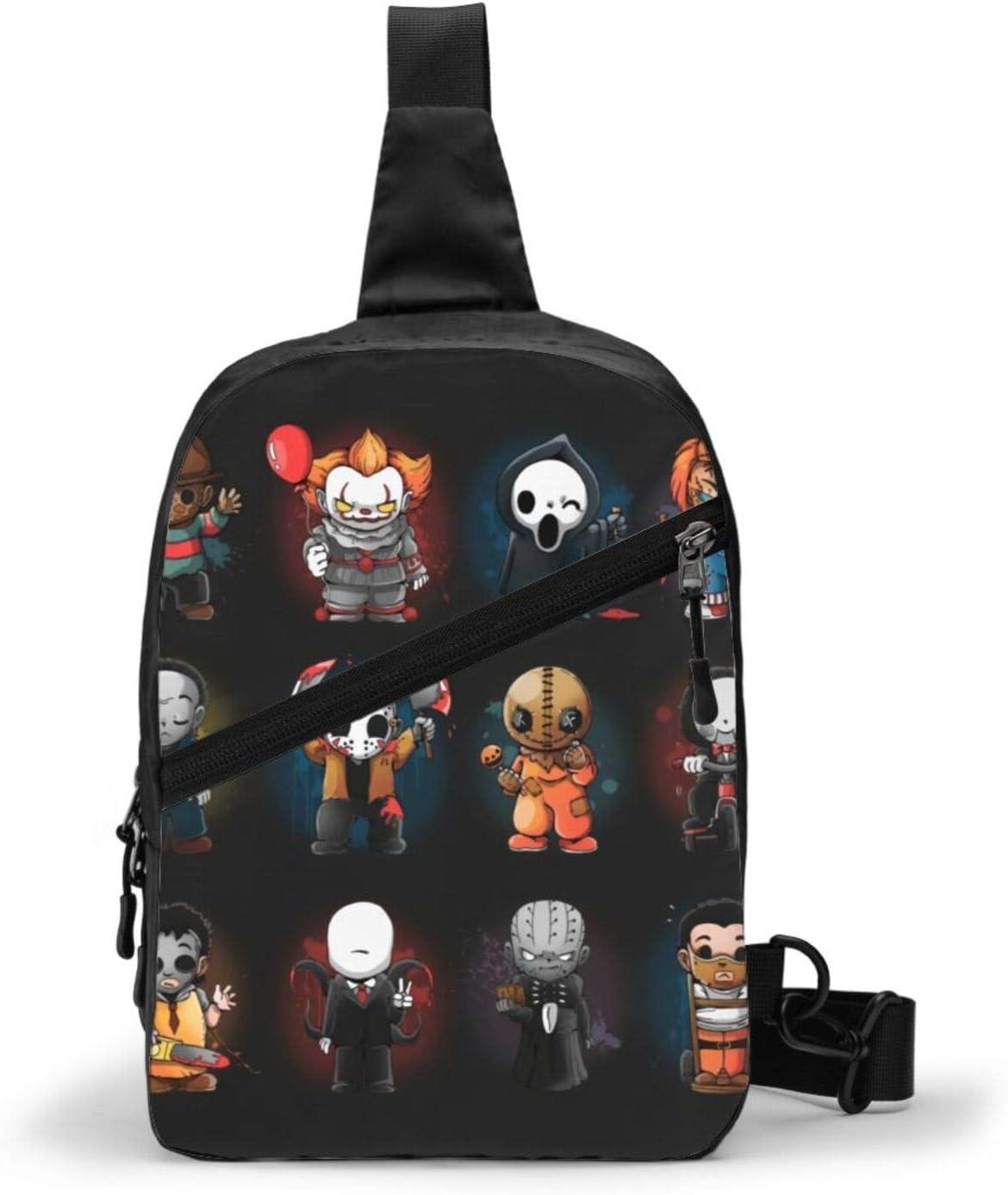 Mouthdodo Horror Movie Sling Bags Men Backpack 70% OFF Outlet Mi Shoulder Year-end gift Women