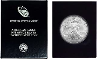 2006 - American Silver Eagle in Plastic Air Tite and Blue Gift Box with our Certificate of Authenticity Dollar Uncirculated Us Mint