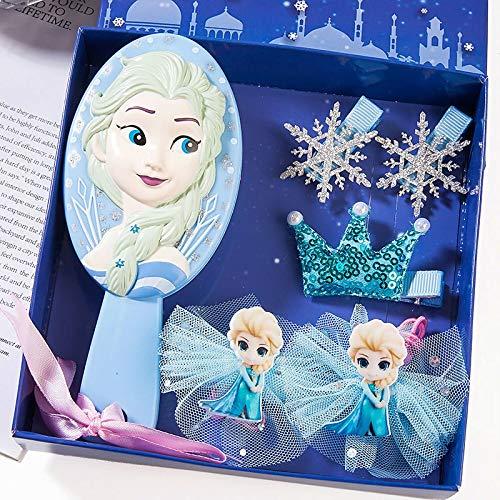 ELSA Prinzessin Schneewittchen Ariel Haarschmuck Bogen Haarnadel Baby Geburtstag Geschenkbox Kinder Kamm Set ELSA 2