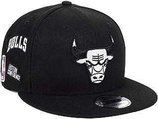 New Era NBA Chicago Bulls 9FIFTY Night Sky Snapback Hat, Adjustable Black Cap