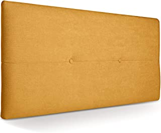 SUENOSZZZ - Cabecero de Madera Jazmin, tapizado Acolchado, en Tela Rio9 Color Mostaza Cabeceros Madera para Dormitorio | Cama Matrimonio | Cama Juvenil | Camas de 105 cm, 90 cm, 80 cm