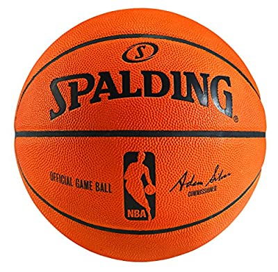 74-233T 74-233E Spalding NBA Official Game Indoor Leather Basketball Ball from Spalding