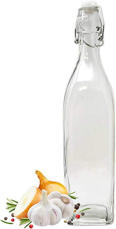 Large 33oz Glass Swing Top Bottle Carafe Kombucha Kefir Beer Water Milk Beverage Liquor