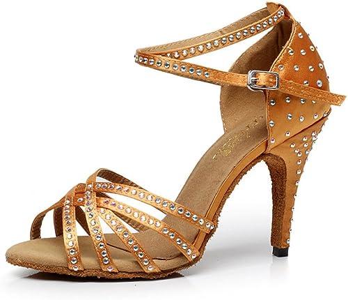 WYMNAME mujeres zapatos De Baile Latino,El Diamante zapatos De Baile De Salón Tacones Sandalia