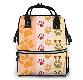 Paw Prints Multi-Function Travel Backpack Nappy Bag,Fashion Mummy Bag