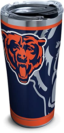 featured product Tervis 1299990 NFL Chicago Bears Rush 20 oz Stainless Steel Tumbler with lid Silver