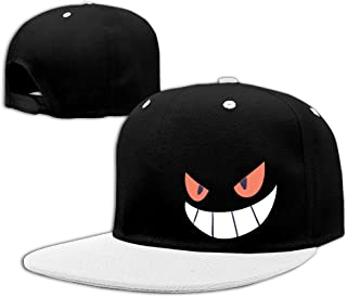 4a26aa82234 whyduiwoo Gengar Halloween Face Snapback Hats Flat Brim Hip-Hop Caps