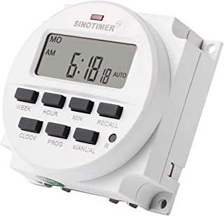 SINOTIMER TM618N-6V 6V LCD Digital AC Programmable Timer Switch With UL Listed Relay Inside with Countdown Time Function