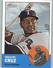 2012 Topps Heritage #468 Nelson Cruz SP Rangers