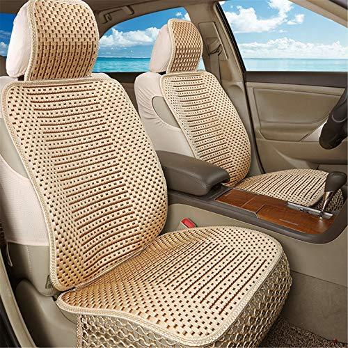 EET Cubierta de Asiento de Coche cómodo Transpirable Seda de Hielo Four Seasons Universal Compatible Airbag,Beige
