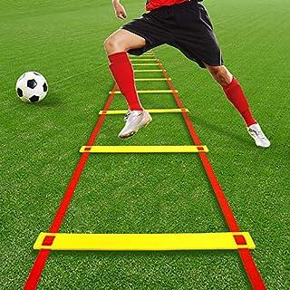 サッカー練習用品 フットサル トレーニングラダー5m 屋内 屋外 遊び 幼稚園 子供 小学生 瞬発力 敏捷性 アップ 競技 クイックラダ 安全性改良
