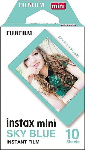 Filme Instax Mini Sky Blue com 10 Fotos, Fujifilm
