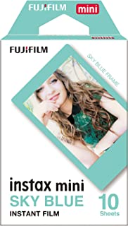 Instax Mini Blue Frame 10pk Film Suitable for Instax Mini Cameras Including 7S,25, 50S, 8, 70 & 90, Also Share Printer SP-2