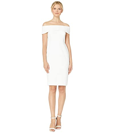 Calvin Klein Off the Shoulder Sheath Dress (White) Women
